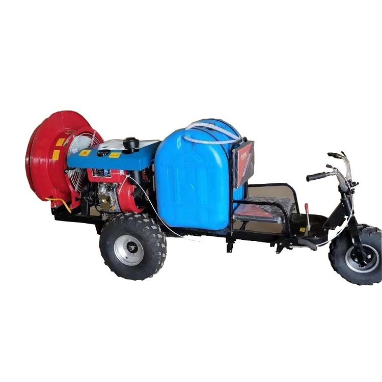 德鑫苹果园远射程风送打药机 三轮车乘坐式果树打药机高压喷雾机