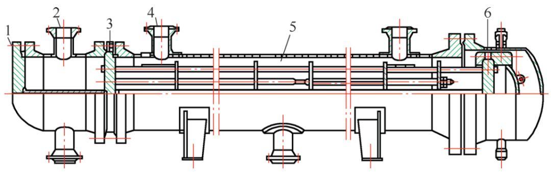 管壳式冷凝器结构