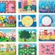 幼儿园儿童墙面游戏板操作板毛毛虫马赛克益智玩具