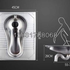 公共厕所防臭不锈钢刚蹲便器