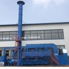 伸缩移动喷漆房废气处理环保设备催化燃烧的应用