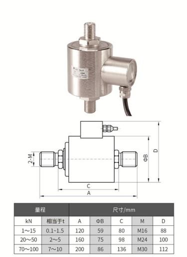 柱式外螺纹拉力传感器TJL-8