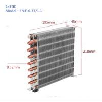 厂家定制2米空冷式冷凝器小型水冷式铜管铝翅片制冰机冷凝器