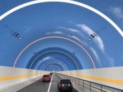 """江苏维也维山""""蓝天白云""""涂料为隧道添彩  提升隧道的驾驶体验"""
