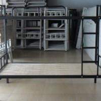 东莞康胜学生宿舍床批发双层铁架床价格实惠上下铺铁床稳固耐用