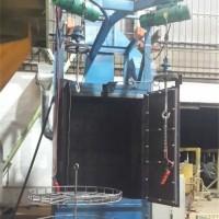铝艺门喷砂机 铝艺门花表面清理喷砂机