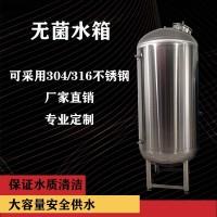 厂家直供廊坊市工业水处理无菌储水罐 无菌储液罐304无菌水箱