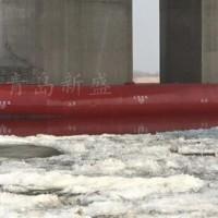自浮式钢覆复合材料桥墩消能保护防撞设施