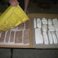 文化石翻模硅胶厂 水泥文化石模具硅胶厂 不泛白好上色模具硅胶